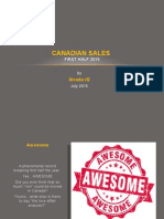 Canadian Sales First Half 2015