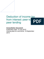 Deduction of Income Tax From Interest - Peer-To-peer Lending