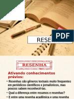 Estudo Da Resenha
