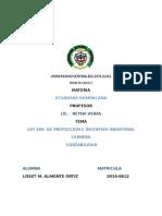 La Ley 299 Proteccion e Incentivo Industrial