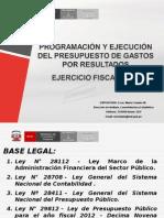 Presupuesto Por Resultados de Gastos Maria Crisanto