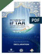 Mumbai Inter-faith Iftar for Peace Declaration