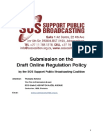 2015-07-15 - SUBMISSION - SOS Coalition - FPB Draft Online Regulation Policy - FINAL