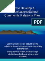 Develop a Comm Plan