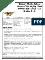 LMS Supply List 1516
