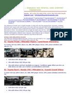 Kigali Car Hire 4x4 Rental Rwanda