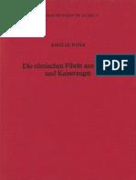 Riha E., Die römischen Fibeln aus Augst und Kaiseraugst