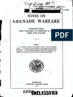 Notes on Grenade Warfare 1917