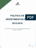 Politicas de Investimentos de Capitais de Associações