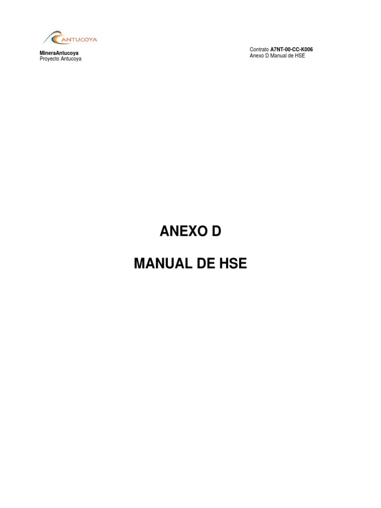 Manual HSEC Fluor Proyecto Antucoya