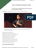 Nature Magzine Research Management India