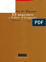 Hipona Agustin De - El Maestro O Sobre El Lenguaje.pdf