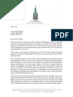 Milwaukee Mayor's 2015-2017 State Budget Veto Letter