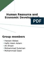 Human Resource and Economic Development