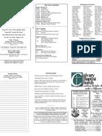 Calvary Bowling Green 2-21-2010 Bulletin