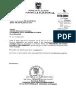 INFORME PRIMER DEBATE CÓDIGO AMBIENTAL