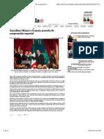 Suscriben México y Francia acuerdo de cooperación espacial