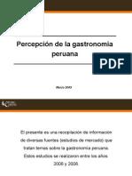 Percepción de La Gastronomía Peruana