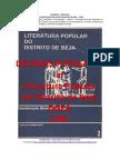 Décimas  - Quadras inseridas in LITERATURA POPULAR do DISTRITO de BEJA, 1987