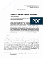 Accident Risk and Driver Behaviour