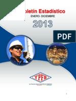 Boletin estadistico YPFB 2013