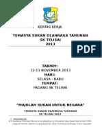 Kertas Kerja Olahraga Sk Telisai 2013 12-14.11.13