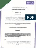 Resolución No 126 - 14 de Julio de 2015