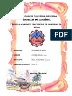 Trabajo de Geologia de Minas