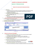 Gestion d'Un Document de Traitement de Texte