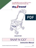 Baby trend snap n go manual