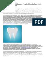 M?thodes Simples Et Rapides Pour Le Blanc Brillant Dents En Un Rien De Temps