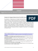 Natural Resource Working Group - Liberian NAP Commitment Details