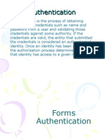 Forms Authentication