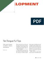 Tonguefu Tips