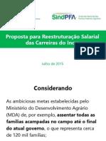 Apresentação Cnasi e SindPFA - Reestruturação das Carreiras do Incra - 17/7/2015
