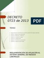 Decreto - 0723 de 2013