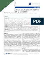 Influence of Lip Closure on Alveolar Cleft Width InCLP