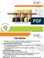 Variables & Data Types