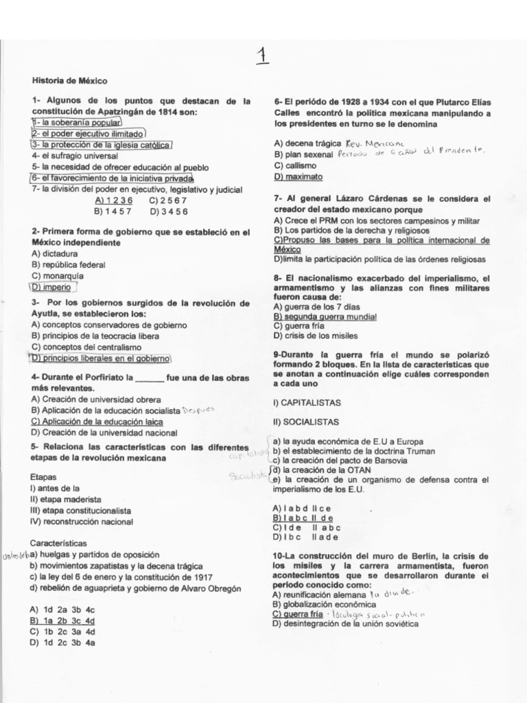 Examen Unam 2010 Guia Resuelto