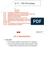 Chapter 11 – File Processing