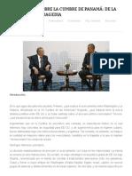 Anibal Romero; Reflexiones Sobre La Cumbre de Panamá