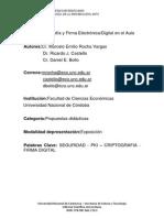 Firmas digitales, certificados