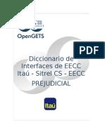 Diccionario de Interfaces ITAU Prejudicial EECC 20140822