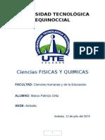 Ciencias Fisica s y Quimicas