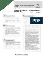 DEF RO Tecnico Da Defensoria Publica - Especialidade - Tecnico Administrativo (Tecnico Administrativo) Tipo 1