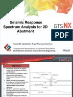 28_2D Seismic Response Analysis of Bridge Abundment