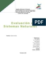 Trabajo de Evaluación de Sistemas Naturales