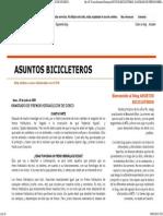Asuntos Bicicleteros- Sangrado de Frenos Hidraúlicos de Disco
