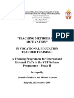 1. Teaching Methods and Motivation