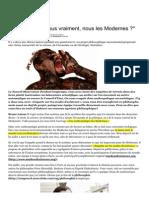 a Quoi Tenons-nous Vraiment, Nous Les Modernes - 26 Juin 2014 - Bibliobs - L'Obs